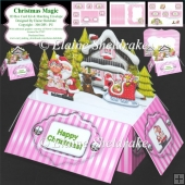 Christmas Magic - 3D Box Card Kit & Matching Envelope