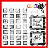28 Vintage Winter Sentiments ~ Digital stamps