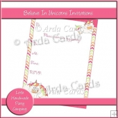 Believe In Unicorns Invitations