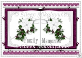 Christmas Family Memories Open Book Card Insert