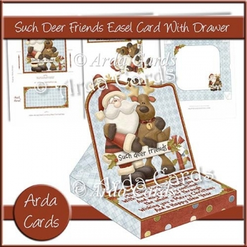 Such Deer Friends Easel Card With Drawer