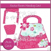 Fuschia Flowers Handbag Card
