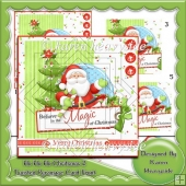 Ho Ho Ho Christmas Altenate Twisted Pyramage 2 Card Front