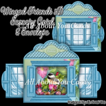 Winged Friends 3D Scenery Card & Envelope