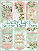 Doily Lace Button Card Tag Set