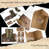 Steampunked Girlie Stuff Easel Card Kit with Matching Envelope