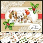 Vintage Puppy Christmas 2
