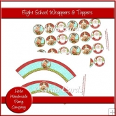 Flight School Cupcake Wrappers & Toppers