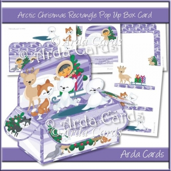 Arctic Christmas Rectangle Pop Up Box Card