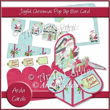 Joyful Christmas Pop Up Box Card