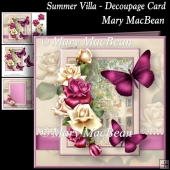 Summer Villa - Decoupage Card