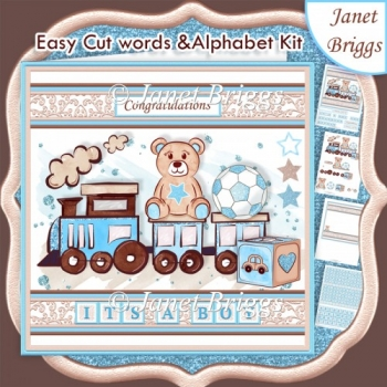 BABY BOY WORD KIT Personalise Easy Cut Words & Alphabet Tiles