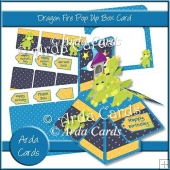 Dragon Fire Pop Up Box Card