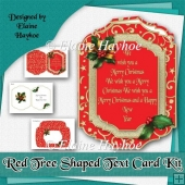 Red Tree Text Card Kit