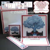 The Scottie Dogs Tree Decoupage Easel Card, Gift Tags & Envelope