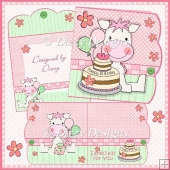 Little Pink Pony Birthday Card Kit