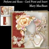 Perfume and Roses - Card Front and Insert