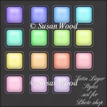 Soft Satin Layer Styles for Photoshop and Elements (.asl)