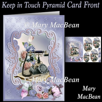 Keep In Touch Pyramid Card front