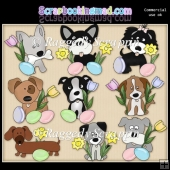 Easter Pups ClipArt Graphic Collection