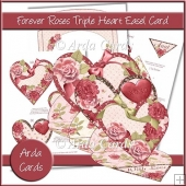 Forever Roses Triple Heart Easel Card