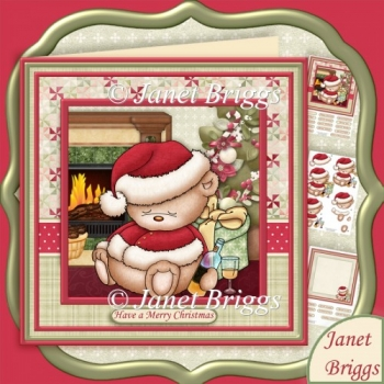 BOOZY CHRISTMAS 8x8 Decoupage & Insert Mini Kit