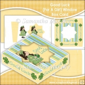 Good Luck (For A Girl) Window Box Card