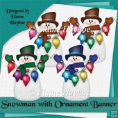 Snowman with Ornaments Clipart