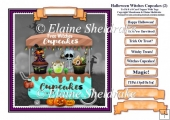 Halloween Witches Cupcakes (2) Card Topper & Tags