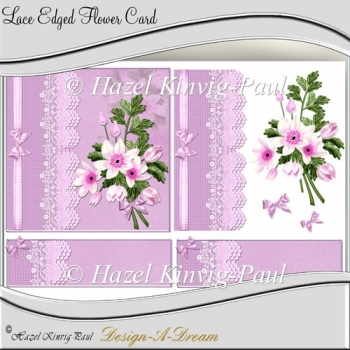 Lace Edged Flower Card