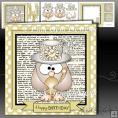 Steampunk Owl Dictionary Mini Kit