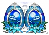 Dolphin Moon Easter Egg - Cut & Fold Faberge Style Easter Egg