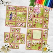 Cherry Blossom Spring Neverending Card