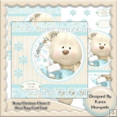 Beary Christmas Charm 2 Deco Pyry Card Front