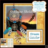 Dream Catcher, Sunset & Eagle - 6 x 6 Card Topper & Sentiments
