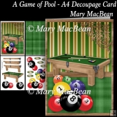A Game of Pool - A4 Decoupage Card