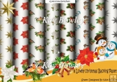 8 Lovely christmas embelish backing papers