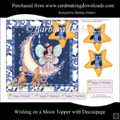 Wishing on a Moon Topper with Decoupage