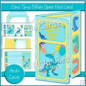 Dino Time Offset Gatefold Card