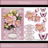 Card Front - Pink Roses