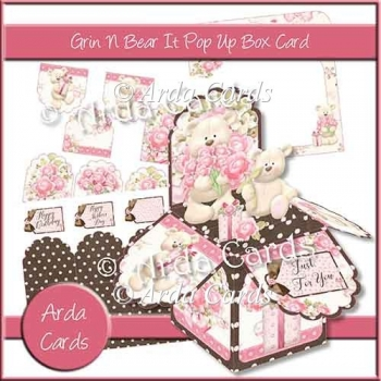 Grin N Bear It Pop Up Box Card