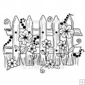The Garden Fence Digital Stamp - CU & PU OK
