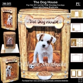 The Dog House 3D Pop Out Concertina Box Card Kit With Matching