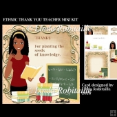 Ethnic Thank You Teacher Mini Kit