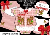 Baby's 1st Christmas with cute reindeer romper card kit