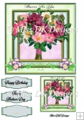 Flowers for You 3 Card