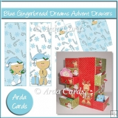 Blue Gingerbread Dreams Advent Calendar Drawers