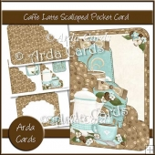 Caffe Latte Scalloped Pocket Card