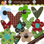 Christmas Flowers and Hearts Collection