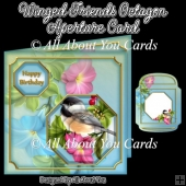 Winged Friends Octagon Aperture Card
